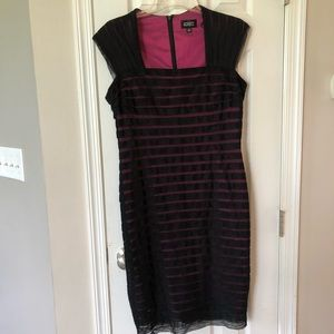 Adriana papel Black and pink formal dress 16